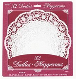 White Assorted Round Doilies