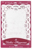 White Rectangle Place Mat Doilies
