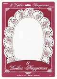 White Oval Doilies