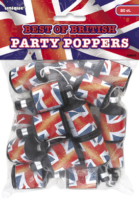 Union Jack Party Poppers