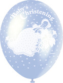 Christening Balloons Blue