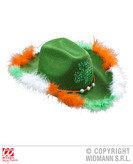 St Patricks Day Felt Hat With Shamrock