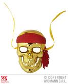 Gold Pirate Skull Mask