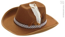 Cowboy Hat W/Feathers Child Brown