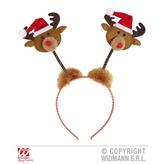 Head Boppers Reindeer With Santa Hat