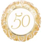 50th Anniversary Foil Balloon