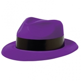 Plastic Purple Fedora