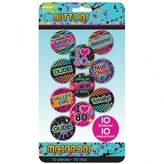 Totally 80's Button Badges