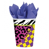Totally 80's Paper Cups