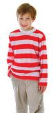 Red & White Striped Shirt Child (11 13yrs)