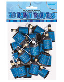 Blue Party Poppers Holographic