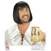 Medieval Man Wig  Black