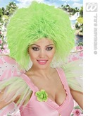 Fairy Wig In Polybag Neon Green