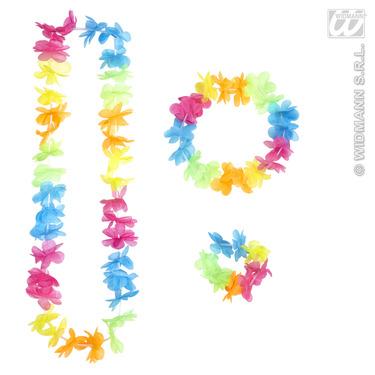 Bright Multicolour Hawaiian Set