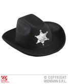 Black Cowboy Hat W/Sheriff Star Child Size