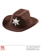 Brown Cowboy Hat W/Sheriff Star Child Size