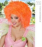 Fairy Wig In Polybag Neon Orange