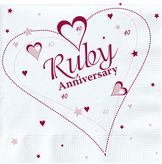 Ruby Anniversary Lunch Napkins 2ply
