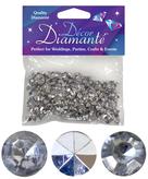 Diamante Decor Diamonds Silver Mirror