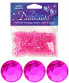 Diamante Decor Diamonds Hot Pink