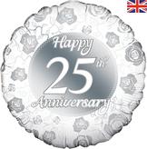 Happy 25th Anniversary Foil Balloon 18inch