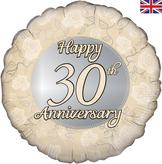 Happy 30th Anniversary Foil Balloon 18inch
