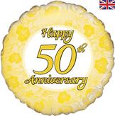 Happy 50th Anniversary Foil Balloon 18inch