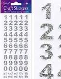 Craft Number Set Stickers Silver
