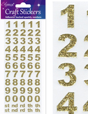 Craft Number Set Stickers Gold