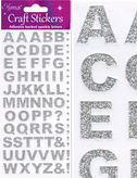 Craft Alphabet Set Stickers Silver