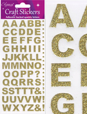 Craft Alphabet Set Stickers Gold