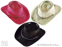 Cowboy Hat Glitter Pvc 3 Colours