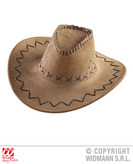 Brown Suede Look Cowboy Hat