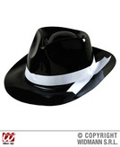 Pvc Gangster Hat With White Band