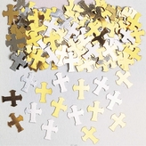 Confetti Gold/Silver Crosses 14g