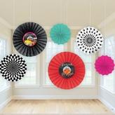 50s Classic Paper Fan Decorations