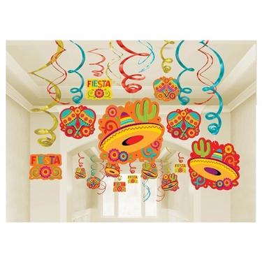 Fiesta Foil Swirl Decoration Pack