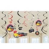 50s Classic Hanging Swirls Decorations