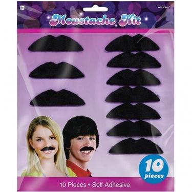 70s Disco Fever Black Moustaches