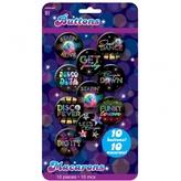 70s Disco Button Badges