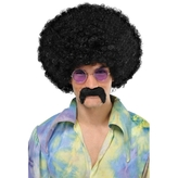 60s Groovy Hippie Moustache Black