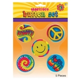 60s Groovy Hippie Badges