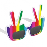 60s Groovy Peace Glasses