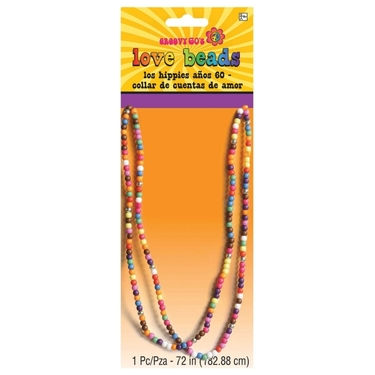 60s Groovy Hippie Beads Necklace
