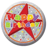 Happy Birthday Badge Small