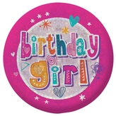 Happy Birthday Girl Badge Small