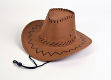 Cowboy Hat Stitched Brown Child   Sml Lady Economy