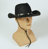 Cowboy Hat Studded Black Felt Adult Economy