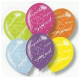 Latex Balloons Engagement Asstd