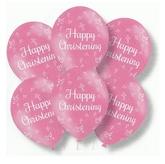 Latex Balloons Christening Pink